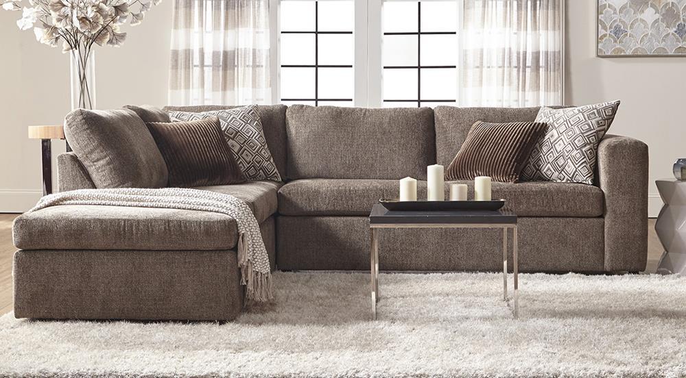 Serta 1100 Sectional Angora Tabby Curley S Furniture
