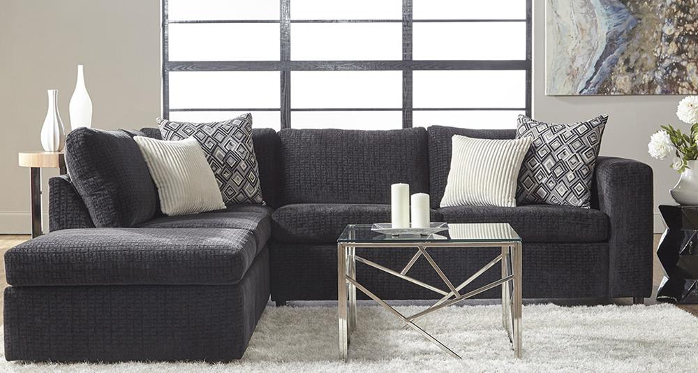 Serta 1100 Sectional Ultimate Ebony Curley S Furniture