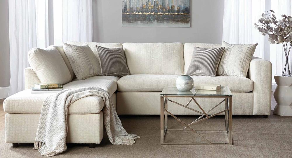 Serta 1100 Sectional Memphis Ivory Curley S Furniture