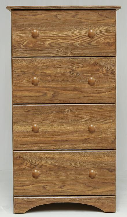 Perdue 5234 14234 Fully Assembled 4 Drawer Chest Black