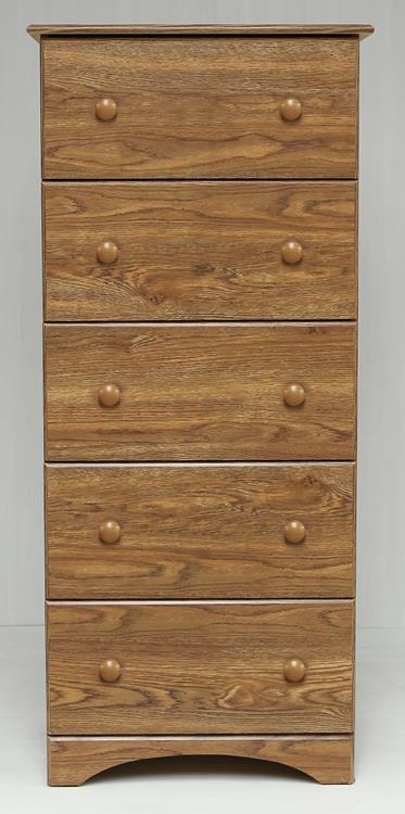 Perdue 5235 14235 Fully Assembled 5 Drawer Chest Black