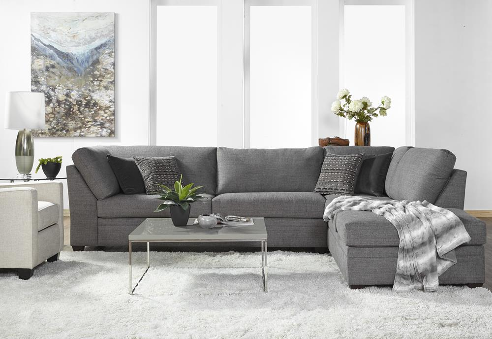 Serta 14500 Sectional Indy Cement Curley S Furniture