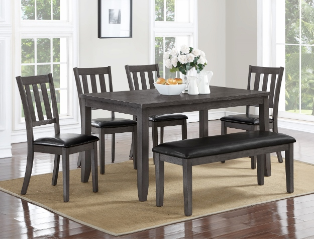 Crownmark 2361 Cosgrove Table Bench And Chairs Curley