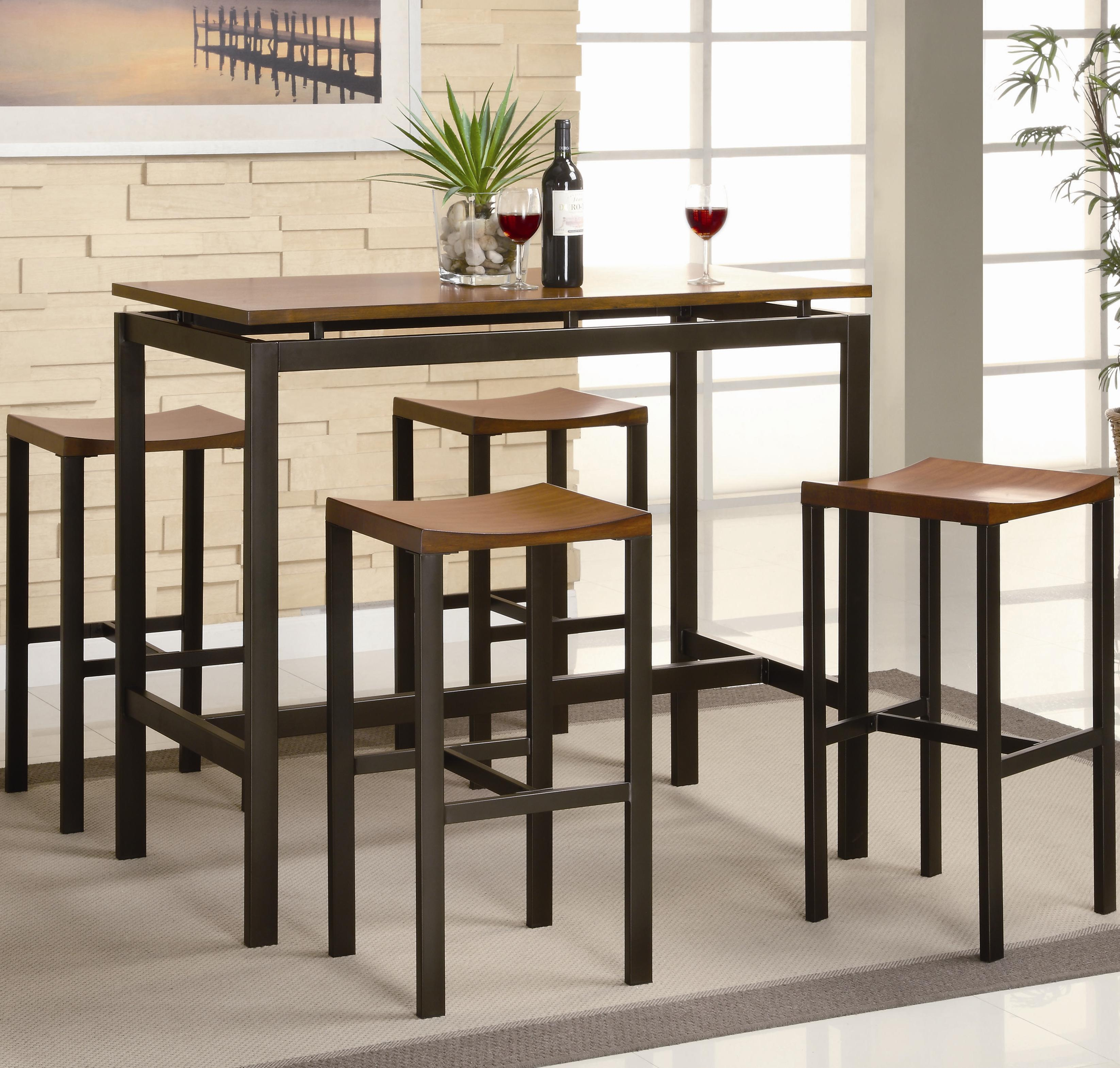 Superbe Coaster #150097 Atlus Counter Height Table And Stools