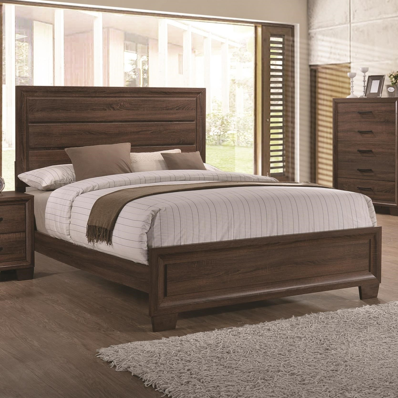 Coaster 205321q Brandon Warm Brown Bed Available In