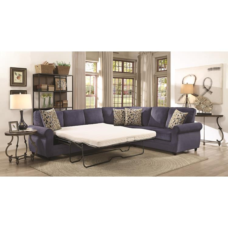 Coaster 501545 Kendrick Sectional Blue Curley S