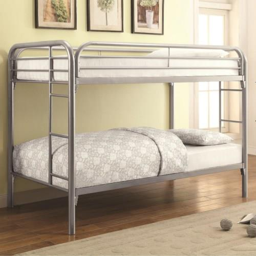 Coaster #2256V Twin/Twin Silver Bunk Bed