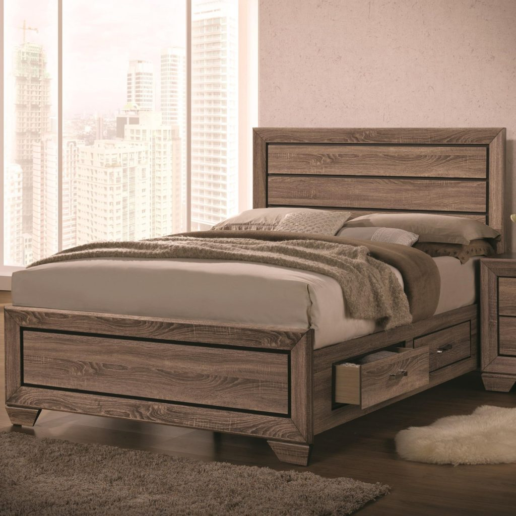 Coaster 204190q Washed Taupe Storage Bed Available In