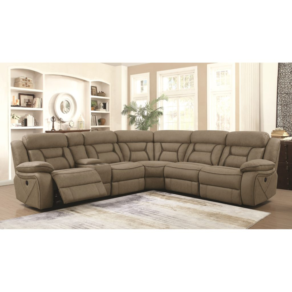Coaster #600380 Camargue Reclining Power Sectional