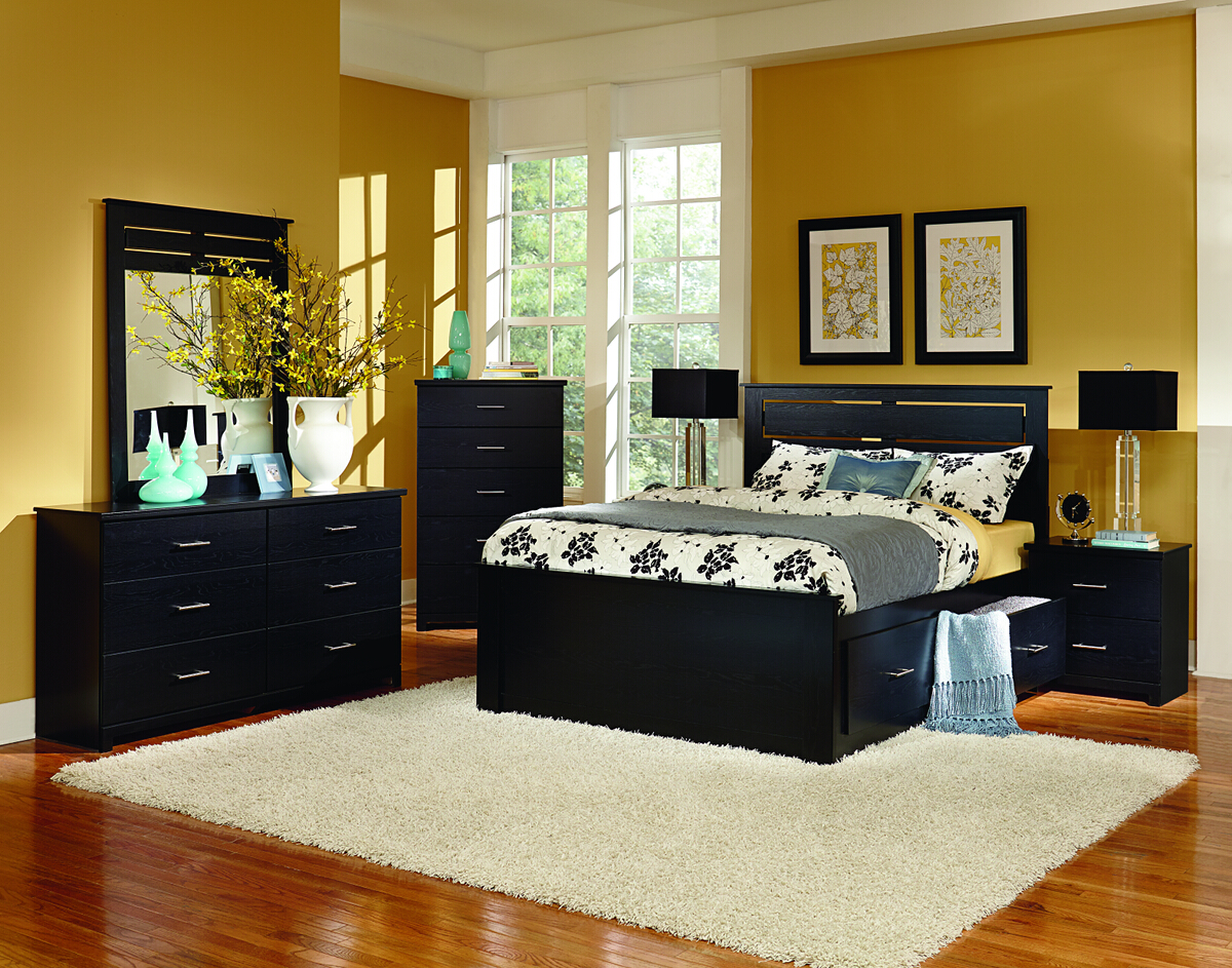 Perdue 72 000 Silhouette Collection Black Admiral Bed