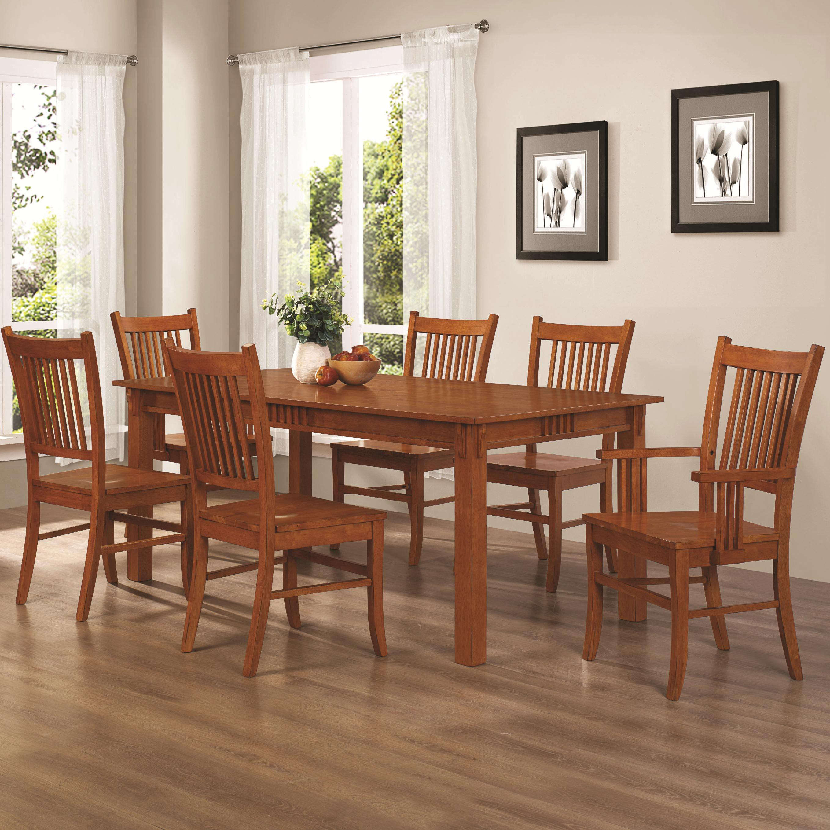 Coaster 100621 Marbrisa Table And Caster Chairs Curley