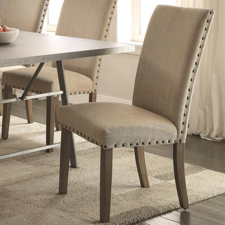 Coaster 105572 Amherst Driftwood Tan Casual Dining Chair