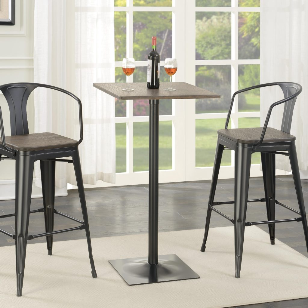 Bar Furniture Store: Coaster #100730 Industrial Metal Bar Height Table And