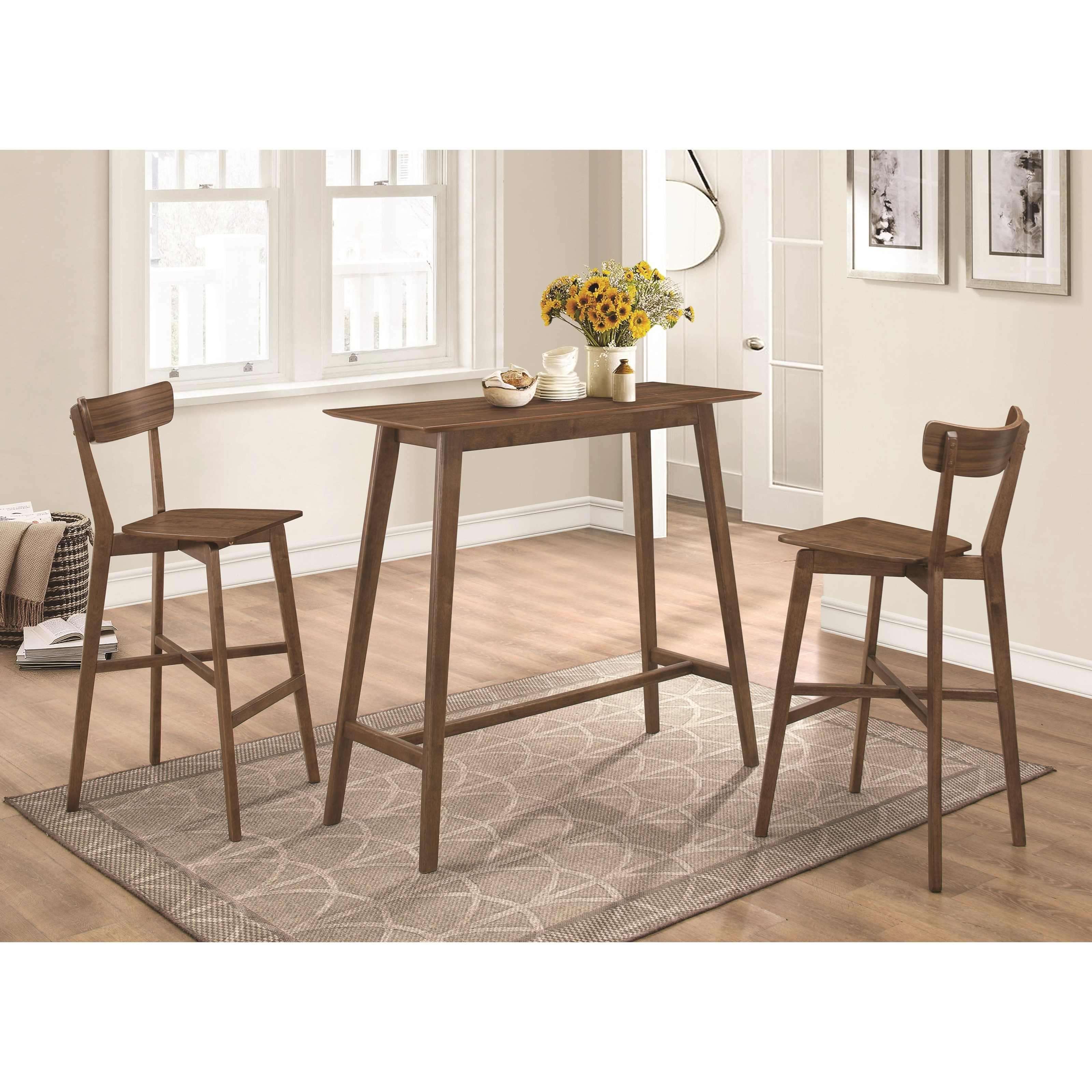Coaster #101436 Mid Century Modern Bar Height Table and ...