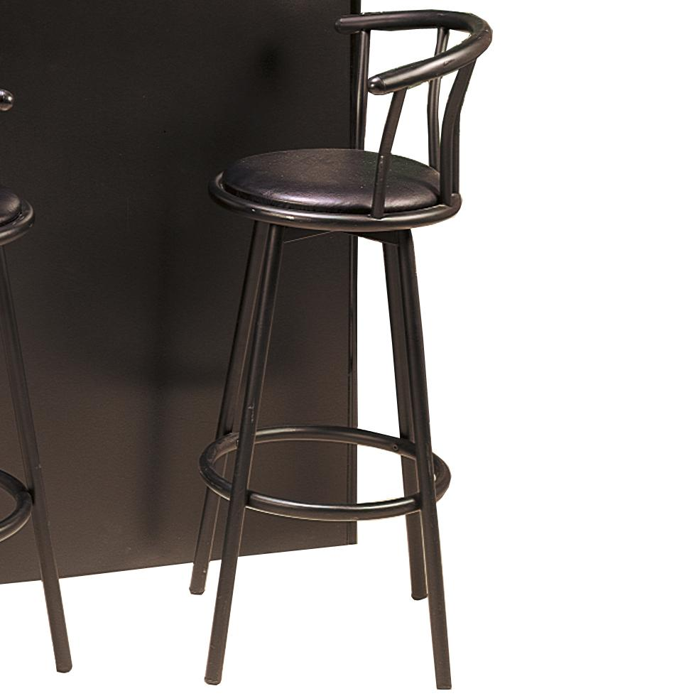 Superb Coaster 2398 Buckner Black Swivel 29 Bar Height Stool Theyellowbook Wood Chair Design Ideas Theyellowbookinfo