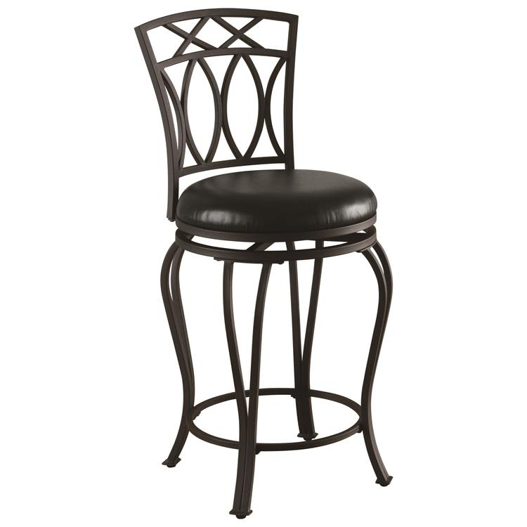 Coaster #122059 Black Leatherette Seat And Metal Counter Height Stool