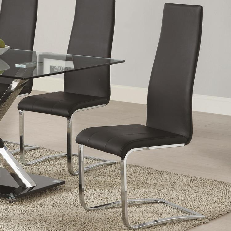 Groovy Coaster 100515 Modern Black And Chrome Dining Chairs Caraccident5 Cool Chair Designs And Ideas Caraccident5Info