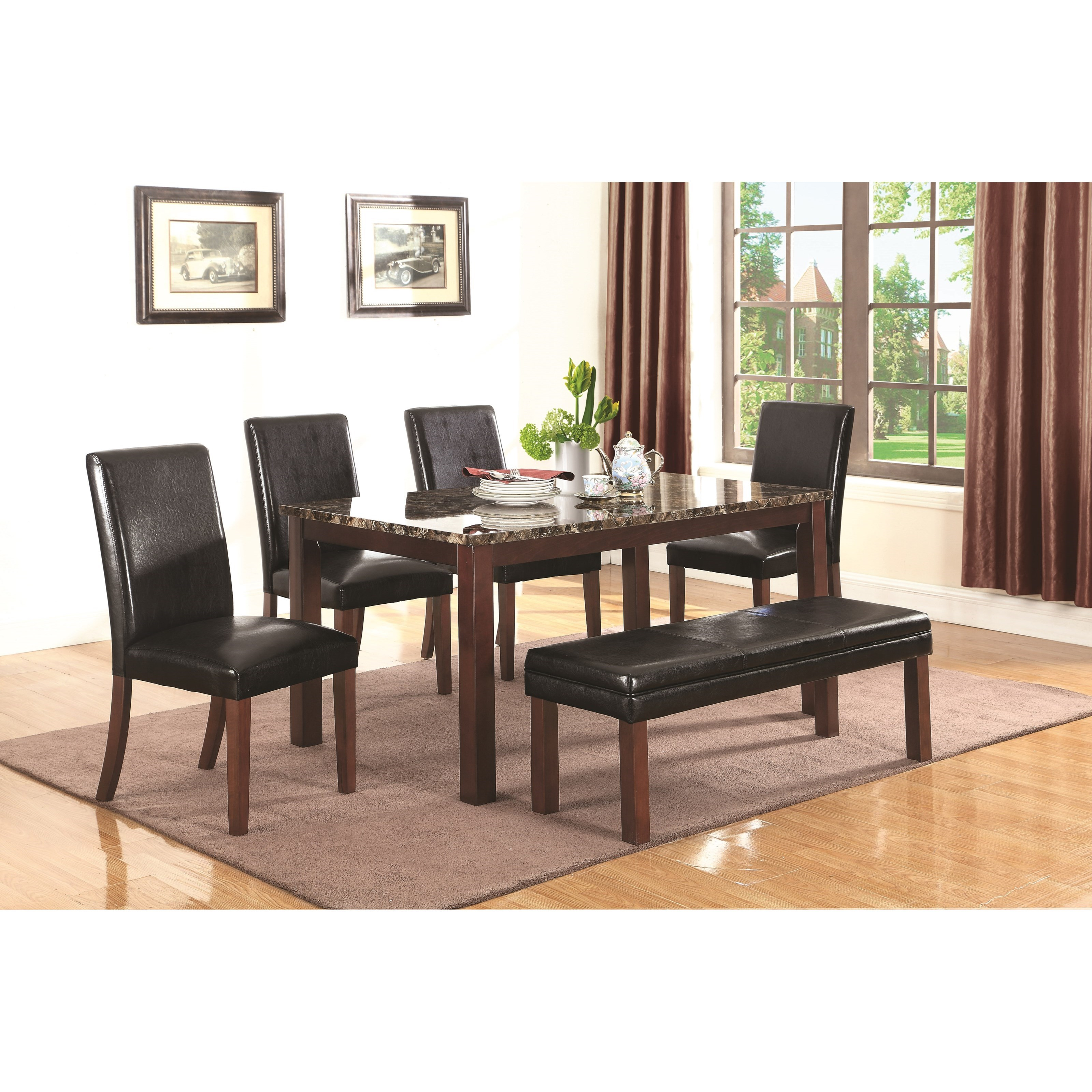 Coaster 107701 Otero Table Chairs And Bench