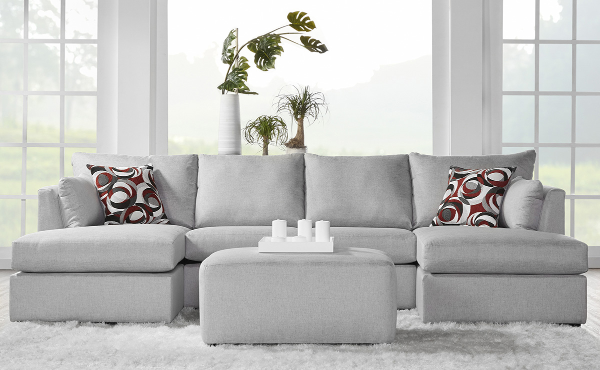Serta 13500 Magic Howlite 3 Piece Pit Sectional Curley